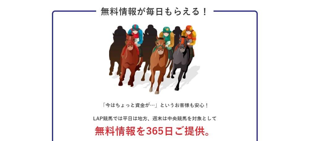 LAP競馬の特徴